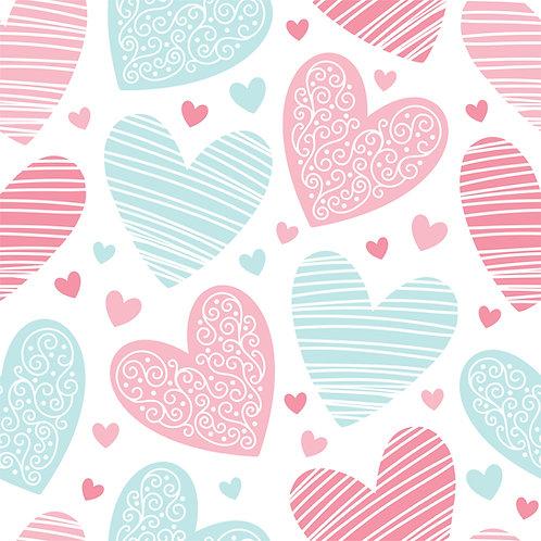 """Papel Tapiz Infantil """"Love Blue and Pink"""""""