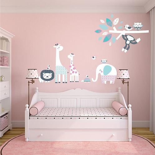 VA022R - Pink Animals