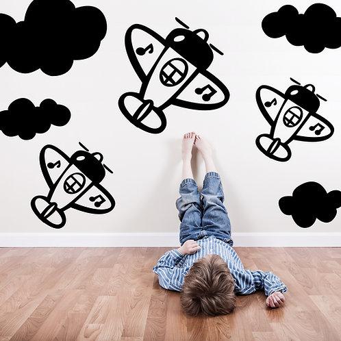 499- Aviones con nubes