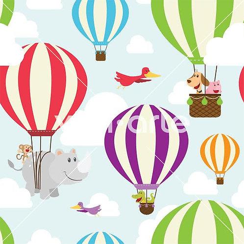 "Papel Tapiz Infantil ""Ballons Animals"""