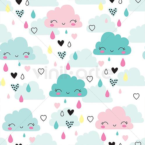"""Papel Tapiz Infantil """"Happy Clouds"""""""