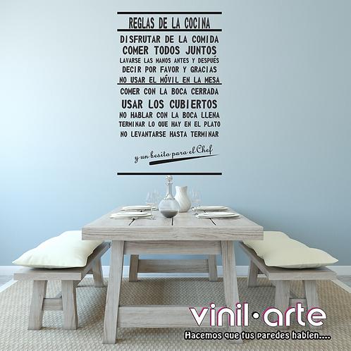 341 -  Reglas de la Cocina