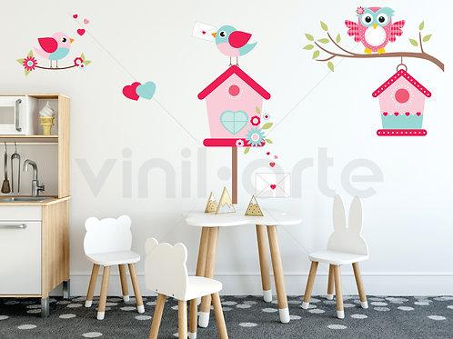 432 - Pink Owls