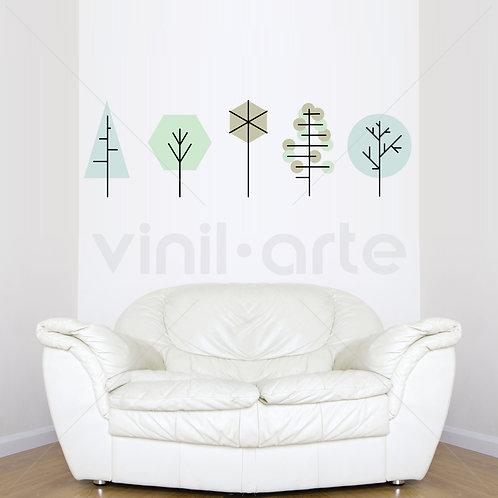 VA003V -Geometric Trees Green