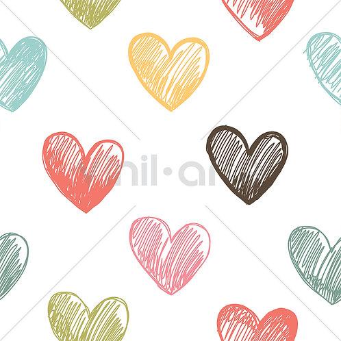 "Papel Tapiz Infantil ""Hearts"""