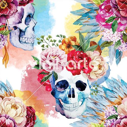 """Papel Tapiz """"Color Skull"""""""
