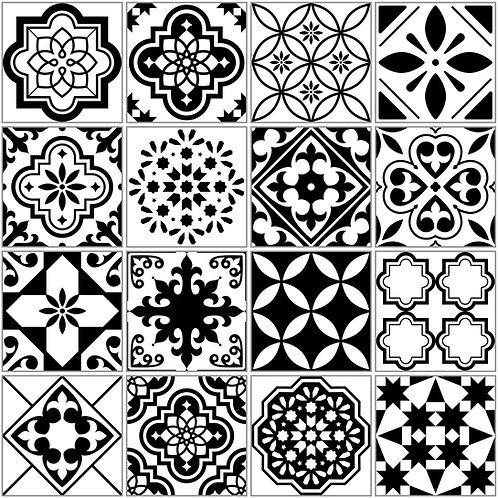 """Papel Tapiz """"Mosaico Black & White"""""""