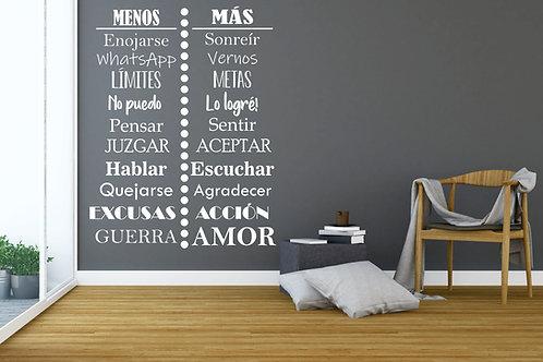 """Vinilo Decorativo """"457 Menos - Más"""""""