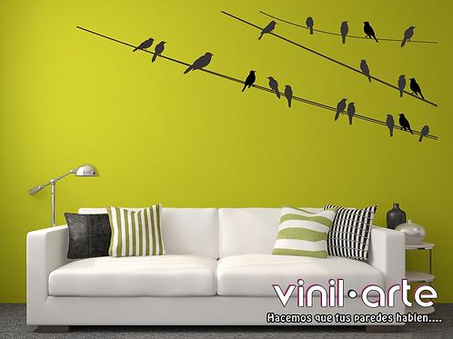 377 - 3 Lines Birds
