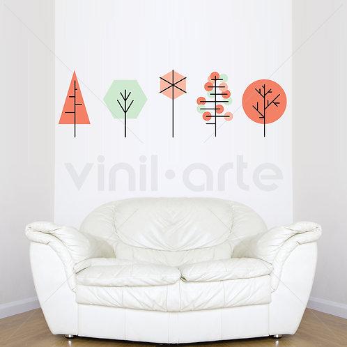 VA003C - Geometric Trees Coral