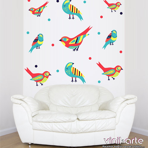 379 - Set Color Birds/Dots