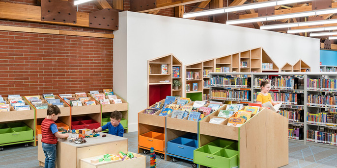 Children's Library Bins
