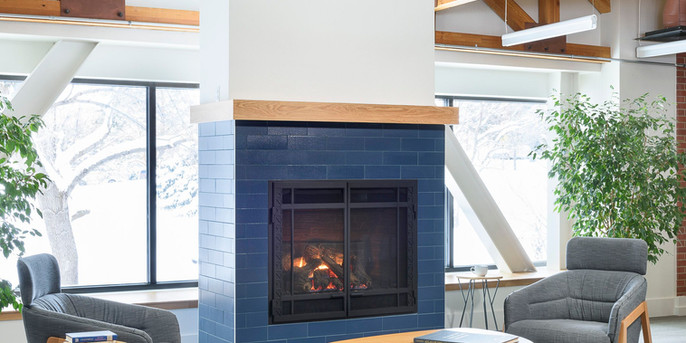 Second floor fireplace