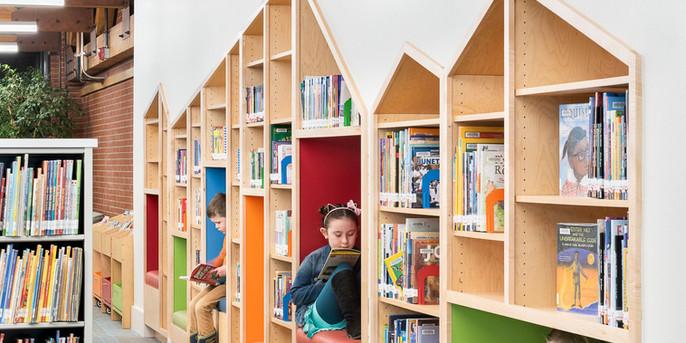 Children's Library cubbies