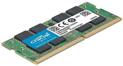 MEMORIA RAM CRUCAL DDR4 PORTATIL 16 GB 2666 MHZ