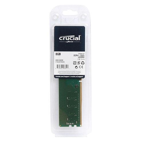 MEMORIA RAM DDR4 8 GB CRUCIAL PC 2666 MHZ SIN BLINDAR