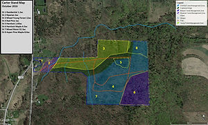 Carter Stand and Habitat Map October 201