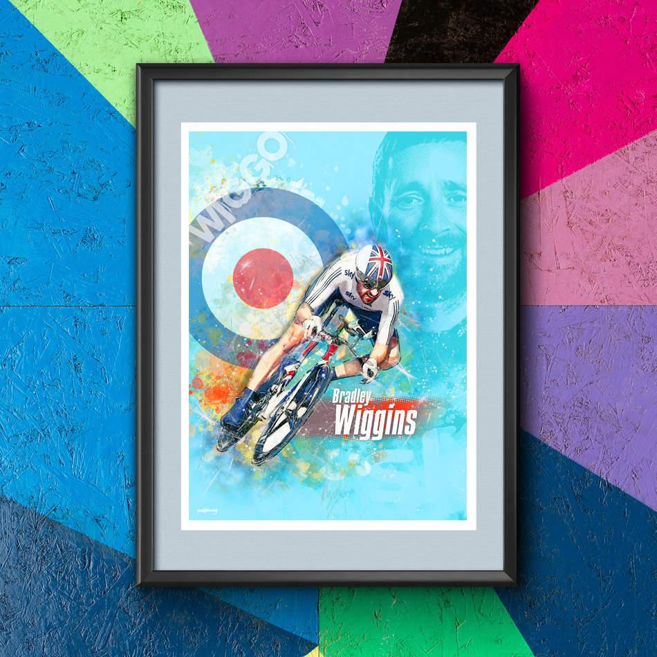 Bradley Wiggins - Art Print 2