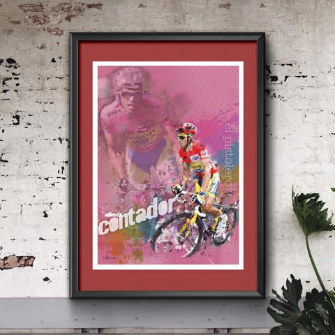 Alberto Contador Art Print 2