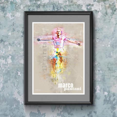 Marco Pantani Art Print