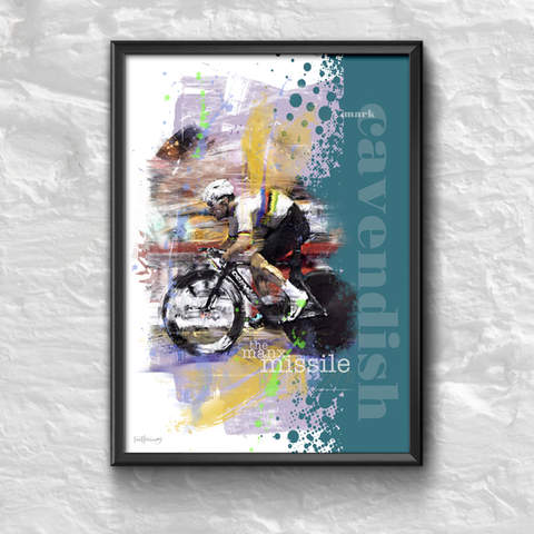 Mark Cavendish Art Print 1