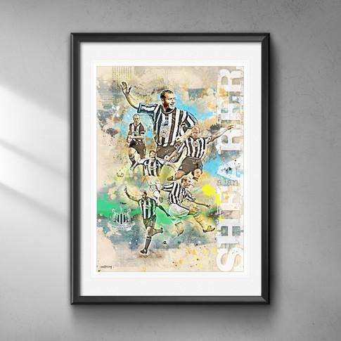 Alan Shearer Art Print 3