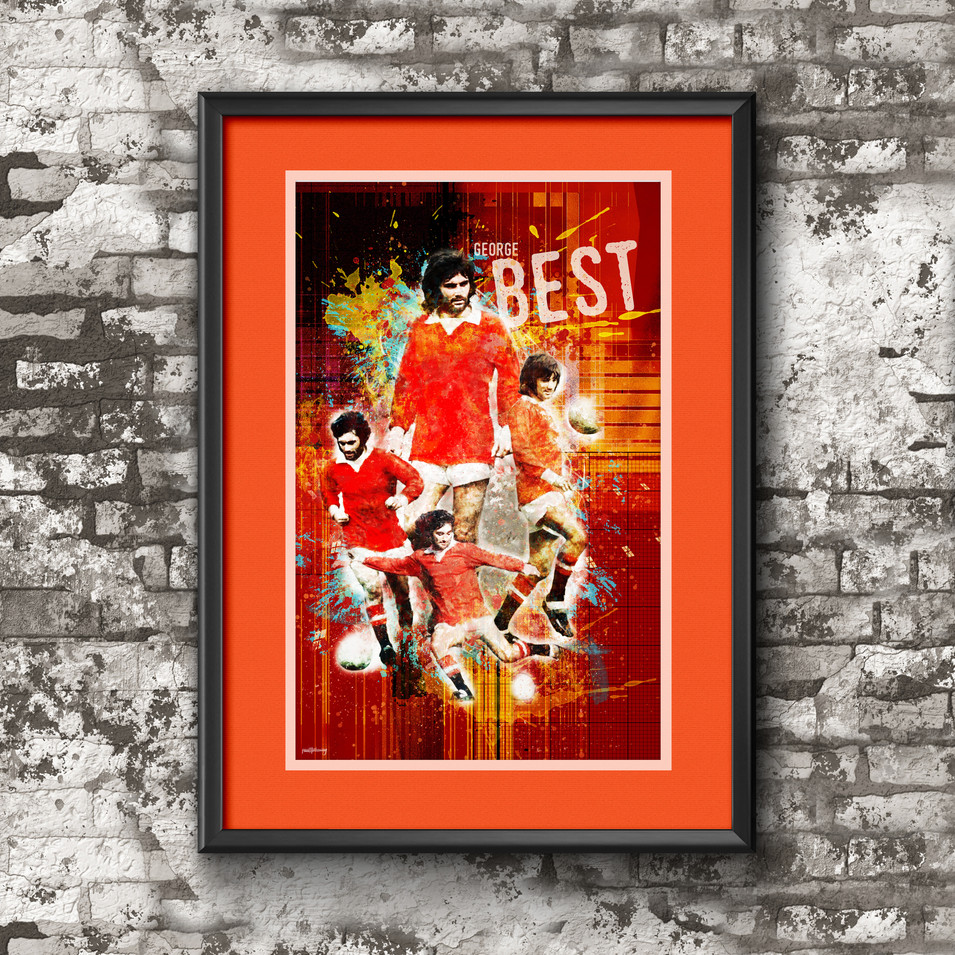 George Best Art Print 3