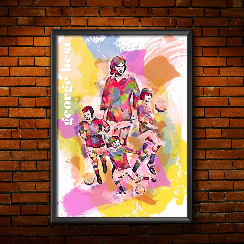 George Best Art Print 4