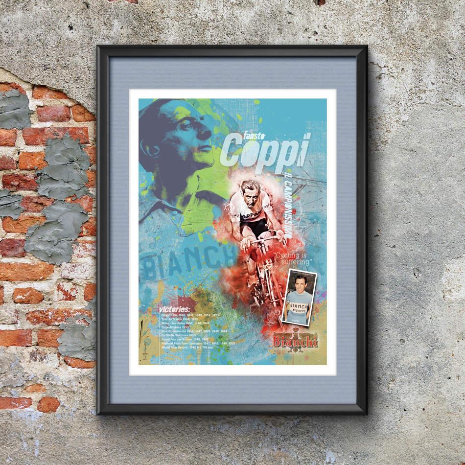 Fausto Coppi Art Print
