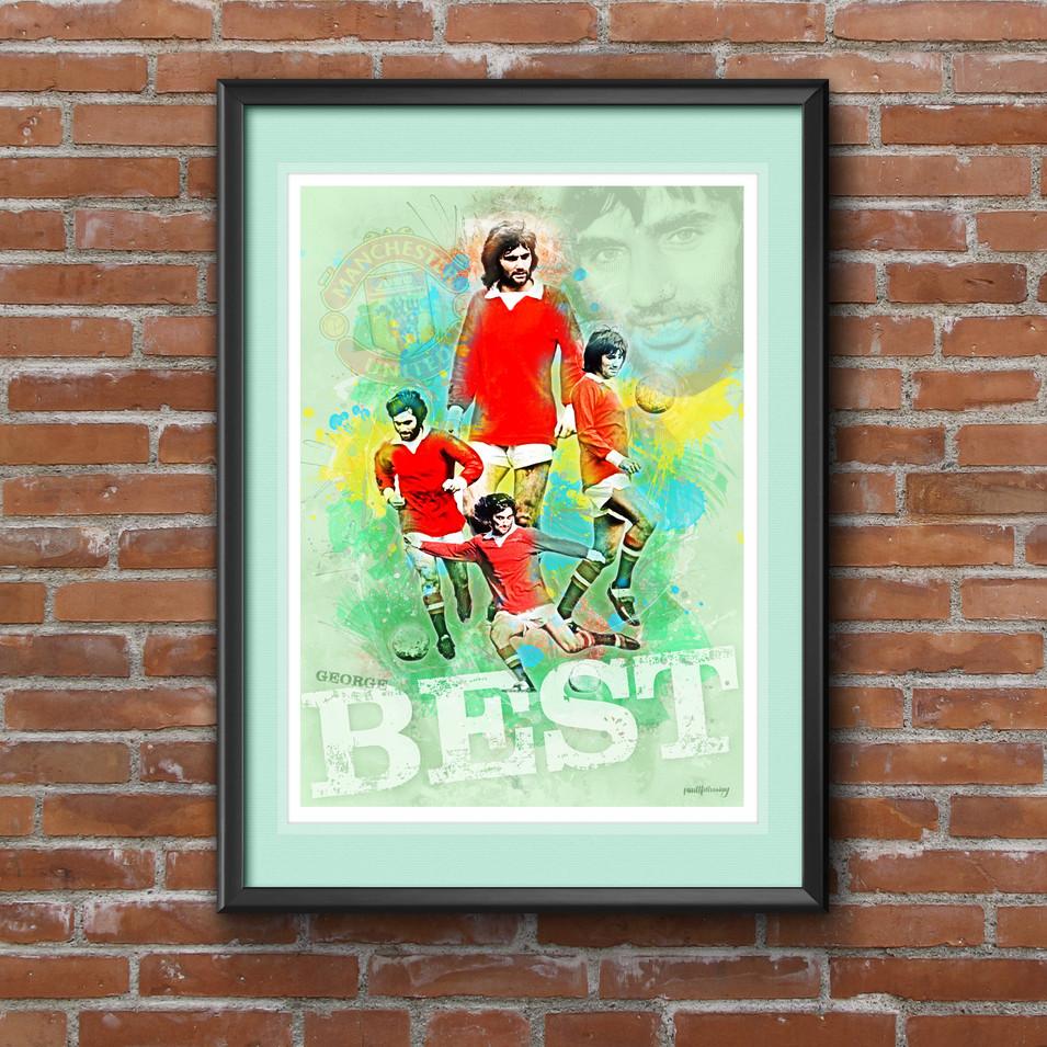 George Best Art Print 1
