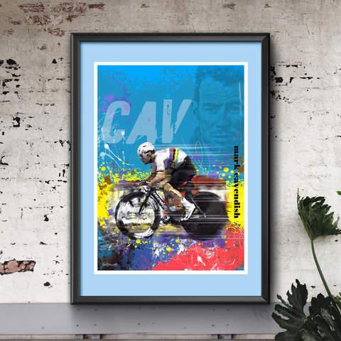 Mark Cavendish Art Print 2