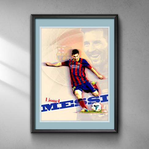 Lionel Messi Art Print 2