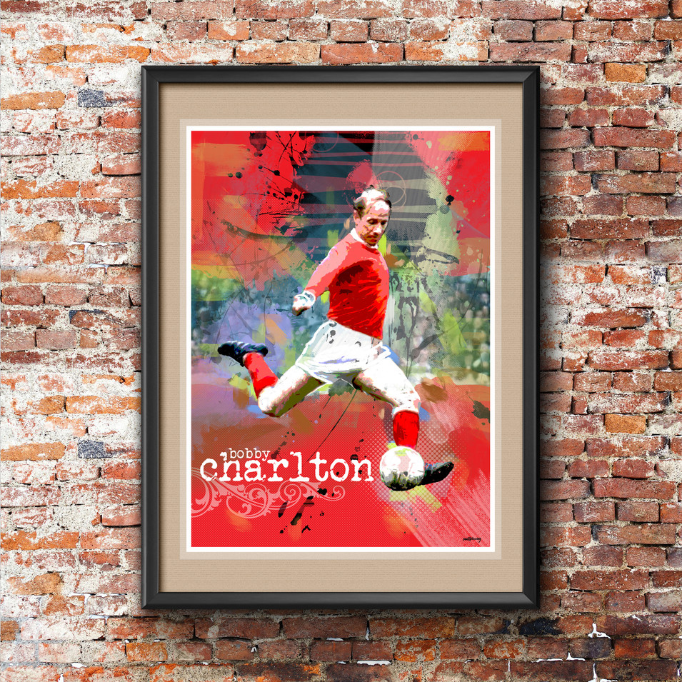 Bobby Charlton Art Print