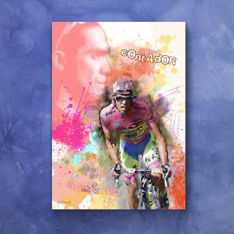 Alberto Contador Art Print 1