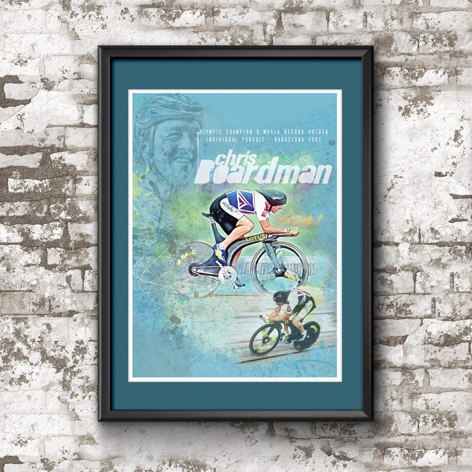 Chris Boardman Art Print
