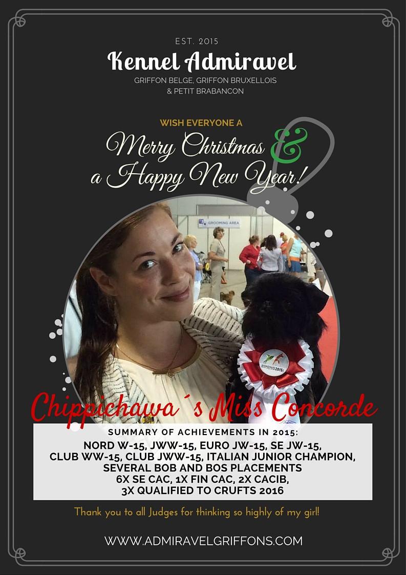 Kennel Admiravel Griffons, Griffon Belge utställning 2015, Merry Christmas