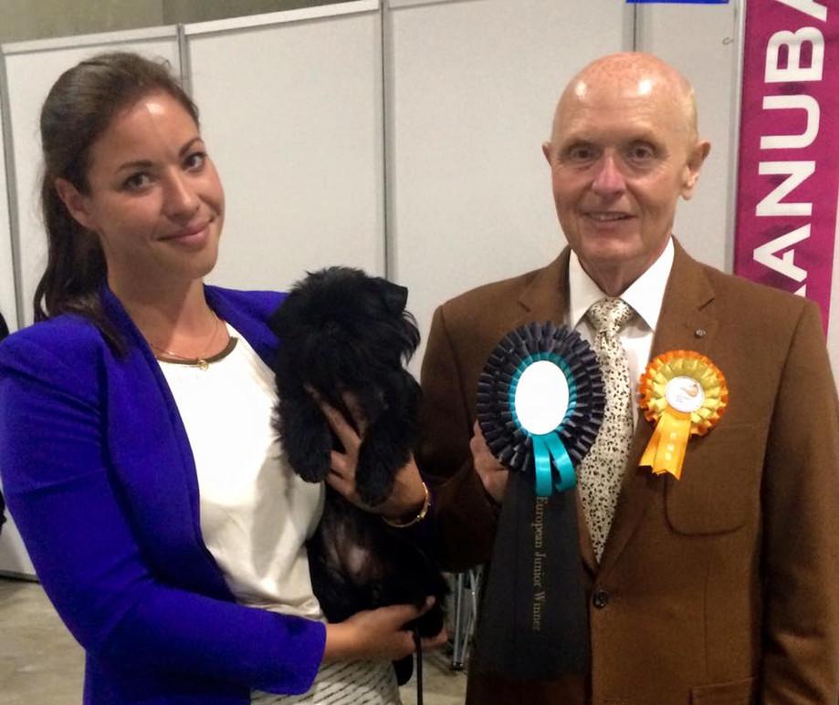 European junior winner 2015 under breedspecialist judge David Guy! :D
