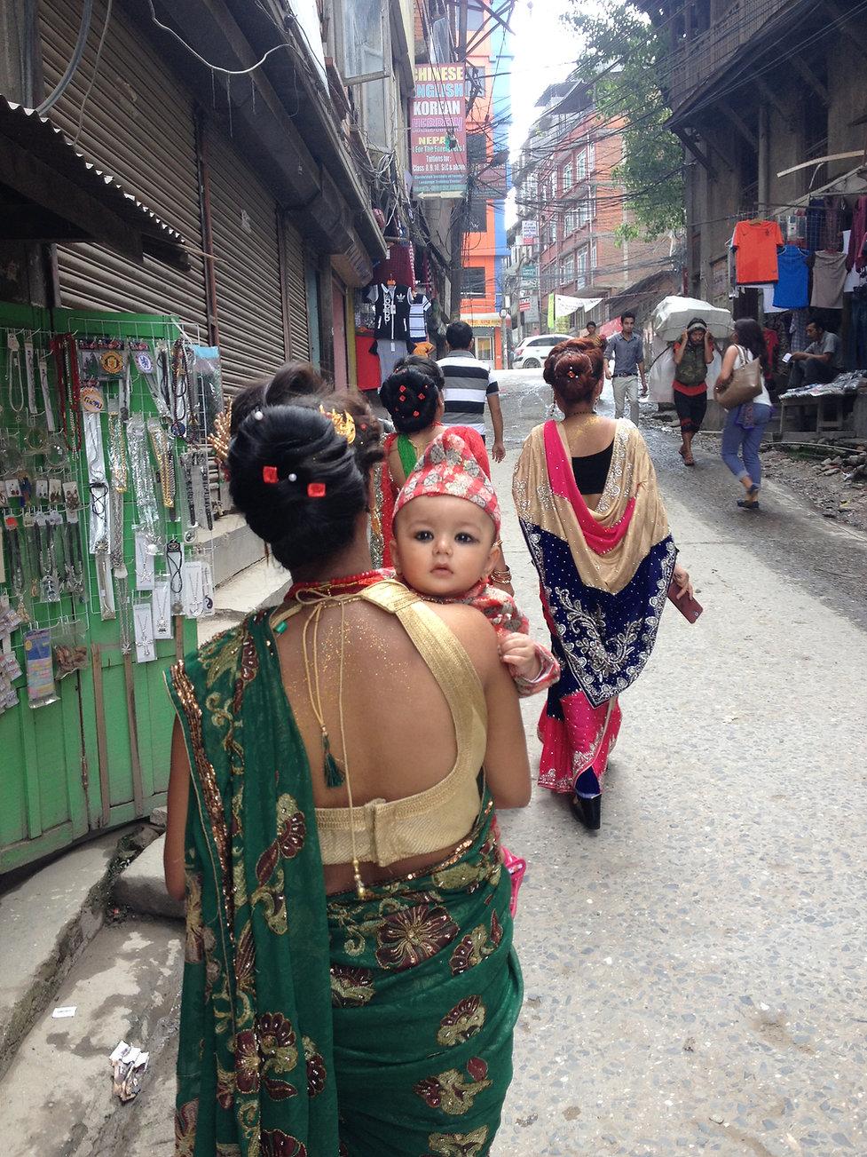 Ruas de Thamel em Kahmandu, Nepal