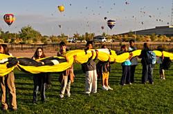 Balloon Fiesta School Landing 2010