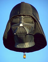 The Big Black Bird features the Darth Vader Special Shape Hot Air Balloon