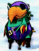 RVB Special Shaped Pirate Parrot