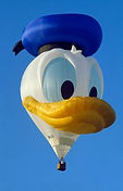 The Big Black Bird features the Disney's Donald Duck Special Shape Hot Air Balloon