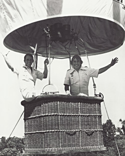 Sid Cutter and Tom Rutherford, 1974
