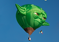 The Big Black Bird features the Yoda Special Shape Hot Air Balloon