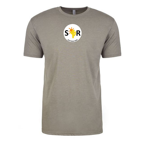 SR Logoed - Men's T Warm Gray/White SR Cir