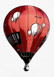 SCHROEDER FIRE BALLOONS RED RACER CARTOO