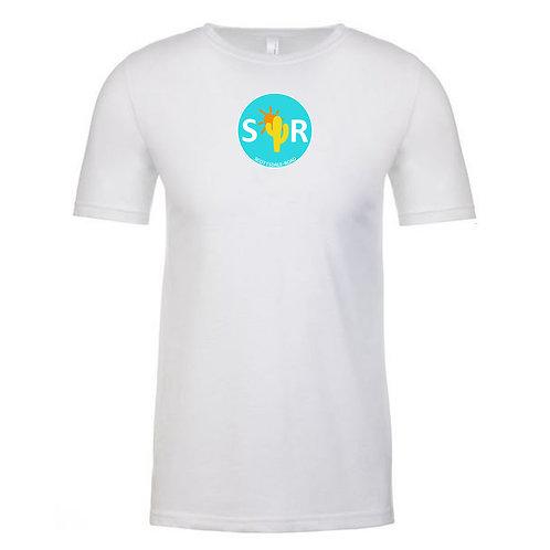 SR Logoed - Men's T White/Blue Cir