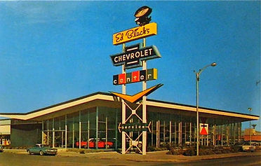 Ed Black's Chevrolet dealership, which was located at 333 San Mateo, SE, 1974