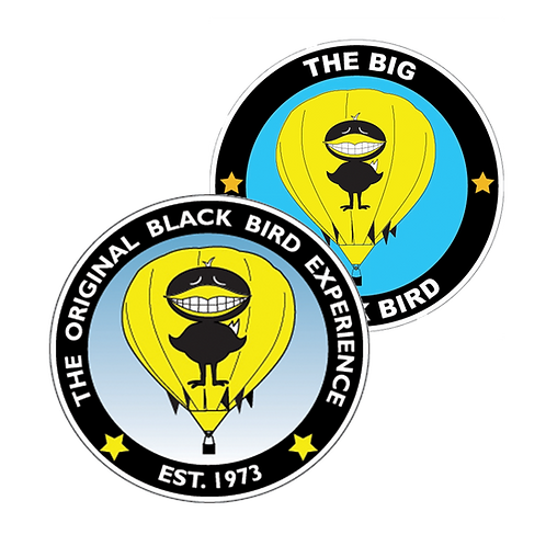 The Big Black Bird 4-inch Stickers