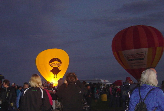 Balloon Fiesta Krispy Glow Black Bird 2010
